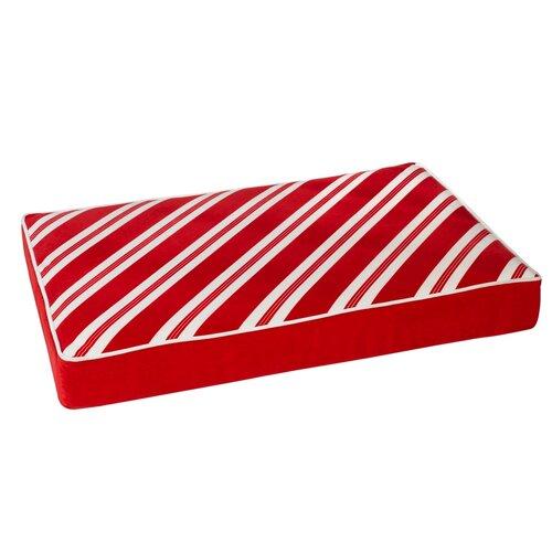 Bowsers Diam Microvelvet Holiday Rectangle Dog Mattress