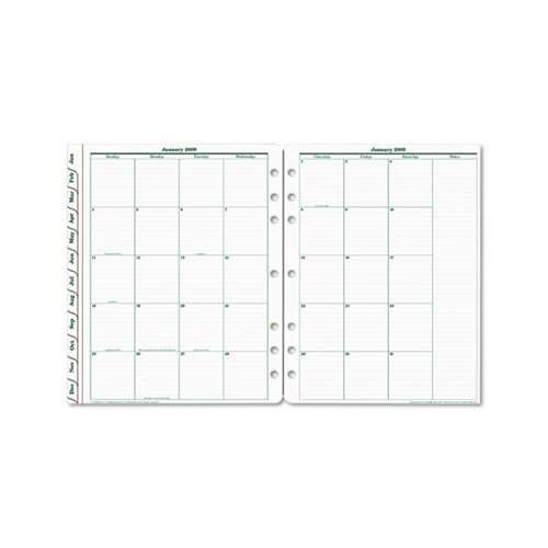 Franklin Covey Original Dated Monthly Planner Refill
