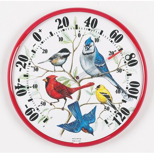 Accurite Designer Edition Indoor / Outdoor Songbirds Thermometer