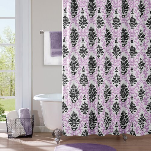 Mi-Zone Katelyn Microfiber Shower Curtain