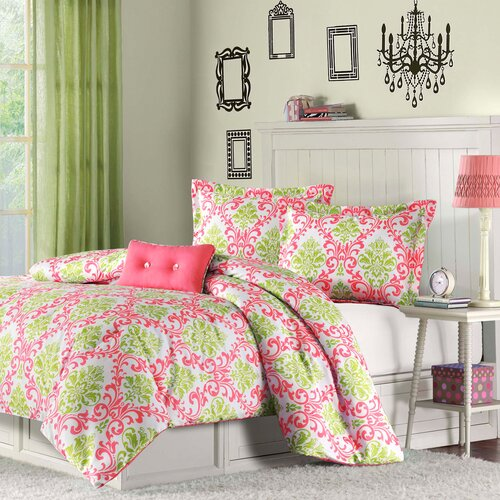 Katelyn Coral Teen Comforter Set