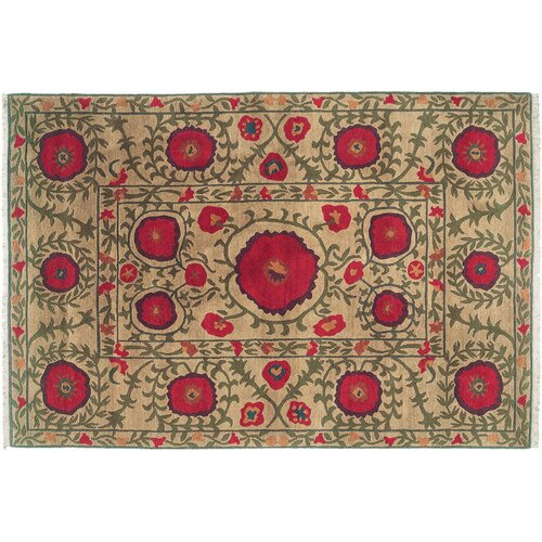 Wildon Home ® Poppies Beige Rug