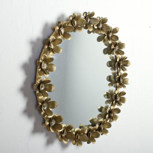 Wildon Home ® Iron Flower Mirror Frame