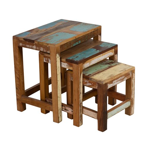 Wildon Home ® Halebid Stripped 3 Piece Nesting Table