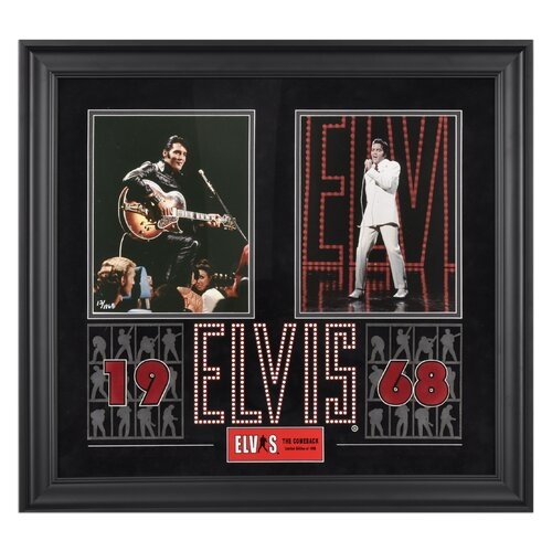 Mounted Memories Elvis Presley '1968' Framed Memorabilia