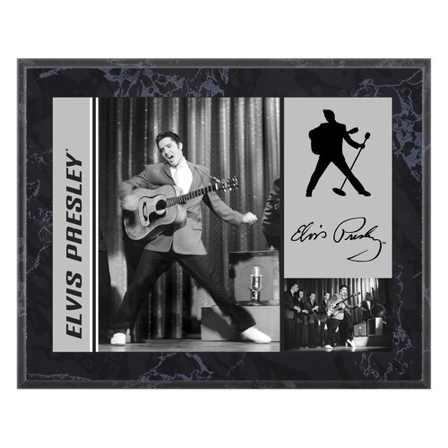 Mounted Memories Elvis Presley '50s On Stage' Memorabilia Plaque