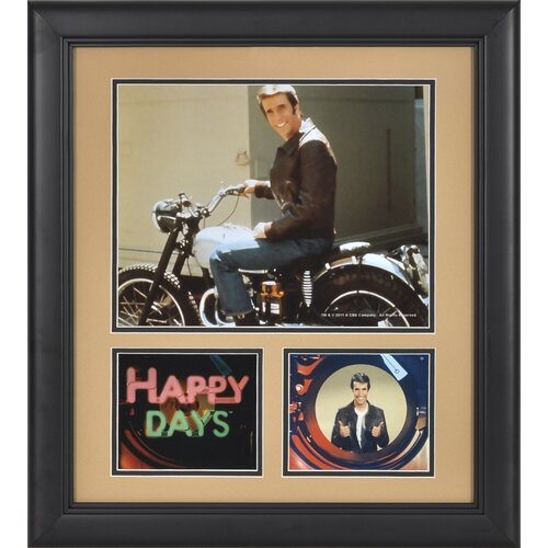 Mounted Memories Happy Days 'Fonzie' Framed Memorabilia
