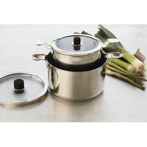 Natural Home Eazistore Stainless Steel 4-Piece Cookware Set