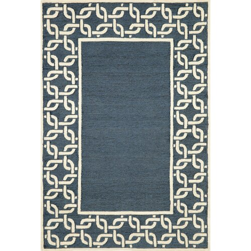 Spello Denim Chain Border Outdoor Rug