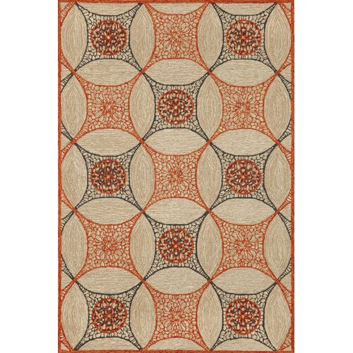 Carlton Orange Interlace Indoor/Outdoor Rug