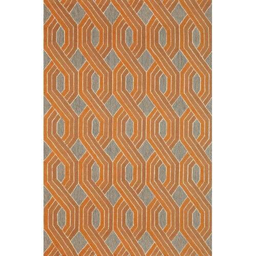 Carlton Orange Braids Indoor/Outdoor Rug