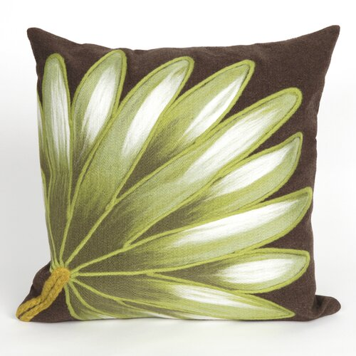 Visions II Palm Fan Pillow Cushion