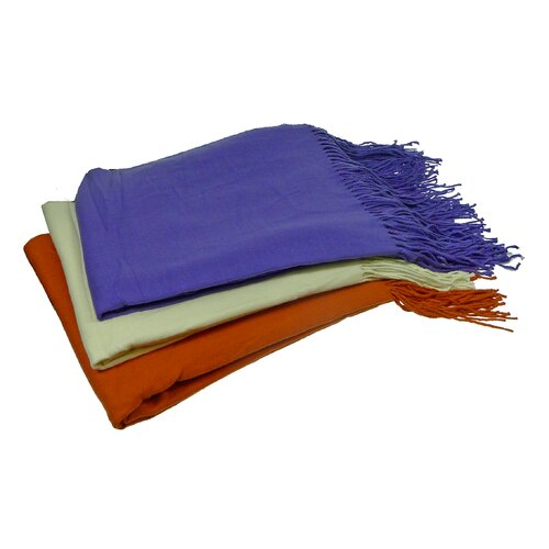 """Cashmere Republic """"I Can't Believe It's Not Cashmere"""" Lyocel Throw"""