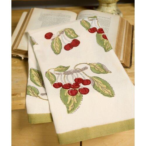 Cherry Red Green Tea Towel (Set of 3)