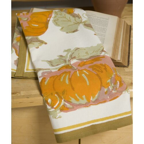 Couleur Nature Pumpkin Orange Yellow Tea Towel