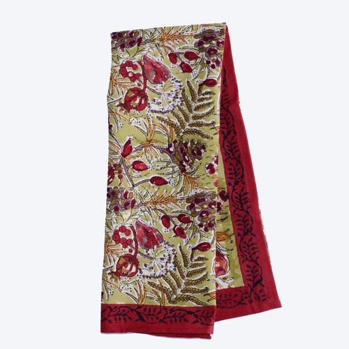 Winter Garden Wreath Red Green Tea Towel (Set of 3)