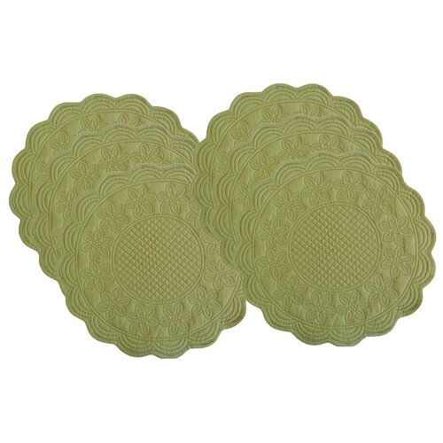 Couleur Nature Sonia Reversible Celedon Placemats