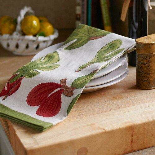 Fig Red Green Tea Towel (Set of 3)