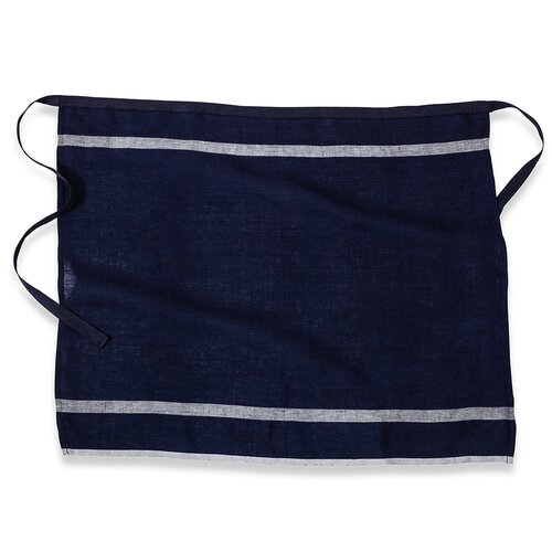 Laundered Linen Stripe Apron