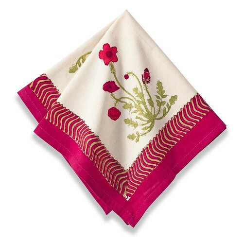 Couleur Nature Poppies Napkin (Set of 6)