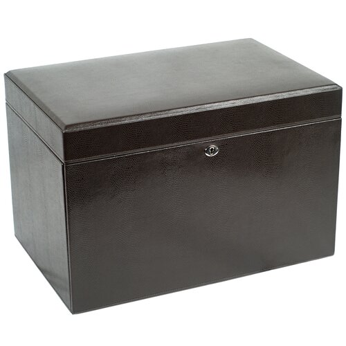 London Large Jewelry Case in Cocoa