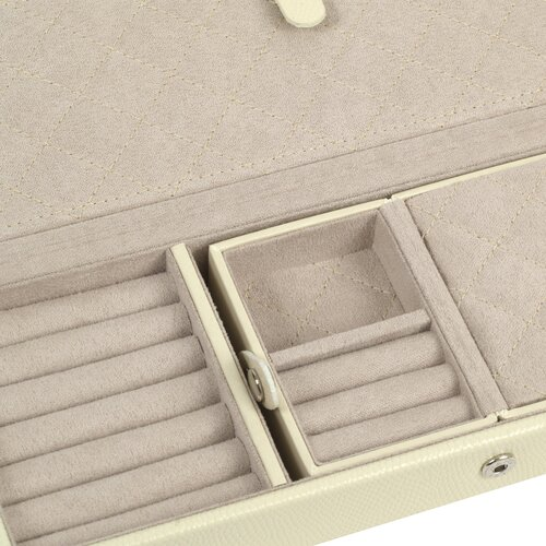 WOLF London Large Jewelry Case in Cream