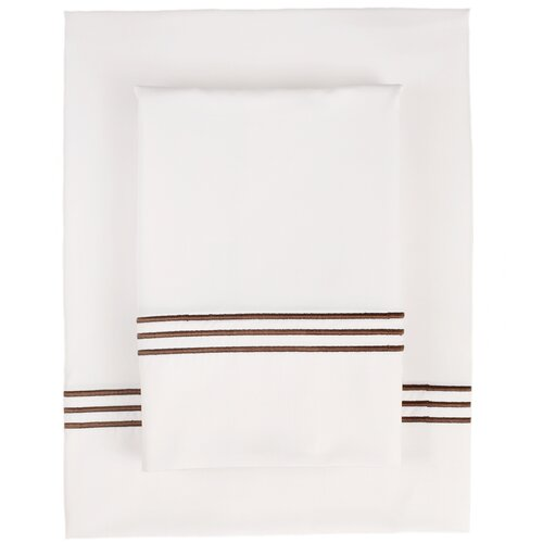 Nine Space Pipe Stitch 300 Thread Count Fabric Sheet Set