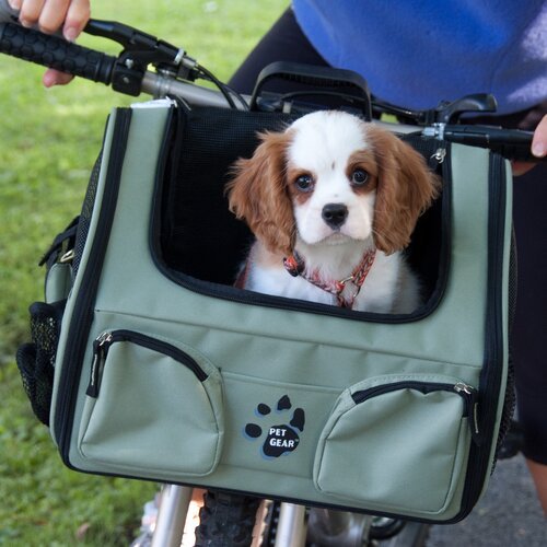Pet Gear 3-in-1 Bike Basket Carrier/Car Seat