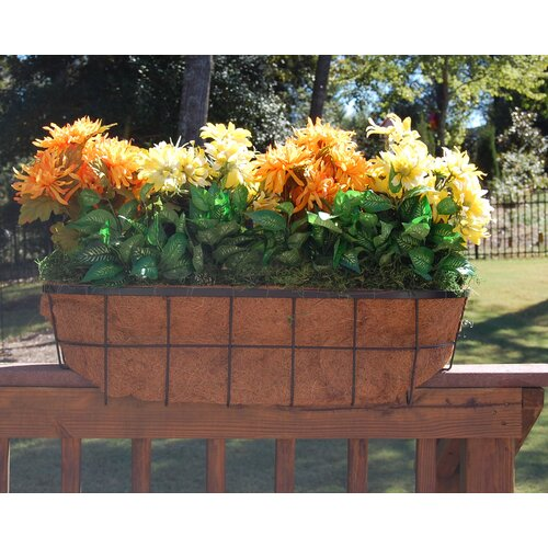 "Griffith Creek Designs Newport Over the Rail Planter for 2"" x 4"" Rail"
