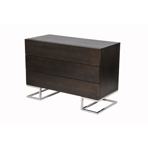 Pangea Home Hunter 3 Drawer Dresser