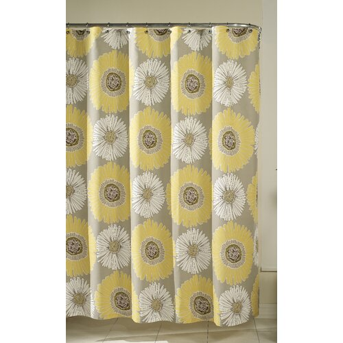 m.style Bloom Polyester and Cotton Shower Curtain