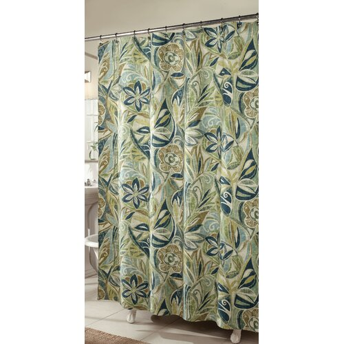 m.style Island Breeze Polyester Shower Curtain