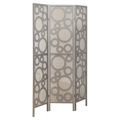 "Monarch Specialties Inc. 71"" x 54"" Frame Bubble Design Folding 3 Panel Room Divider"