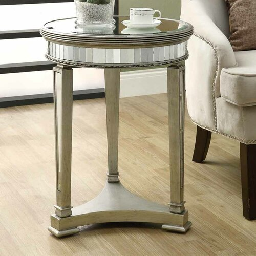 Monarch specialties inc mirrored end table reviews for Wayfair mirrored coffee table