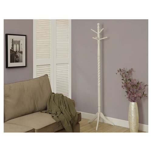 Monarch Specialties Inc. Traditional Solid Wood Coat Rack