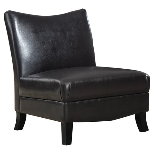 Monarch Specialties Inc. Leather Slipper Chair & Reviews  Wayfair