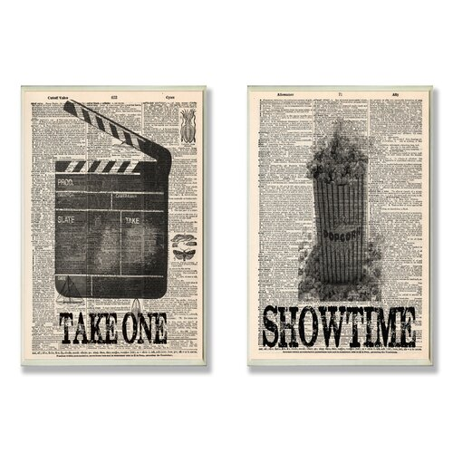 Home Décor Take One and Showtime Movie on Encyclopedia Duo 2 Piece Graphic Art Plaque ...