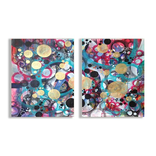 Home Décor Abstract Circle Masterpiece Duo 2 Piece Graphic Art Plaque Set