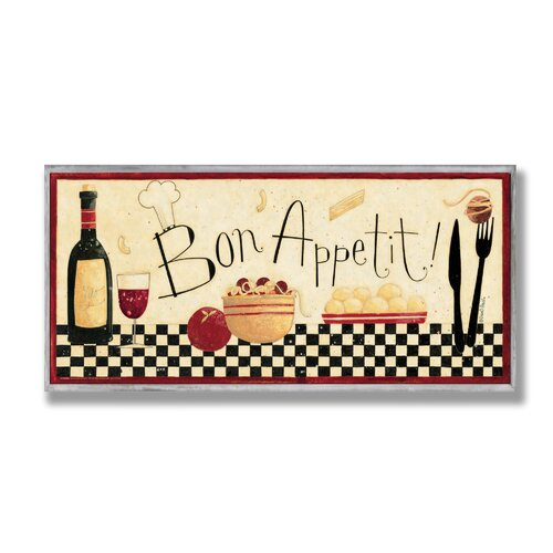 Home Décor Bon Appetit Graphic Art Plaque