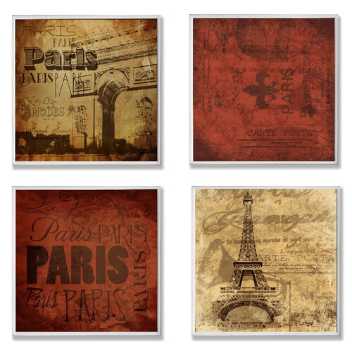 Home Décor Paris This Paris That 4 Piece Graphic Art Plaque Set