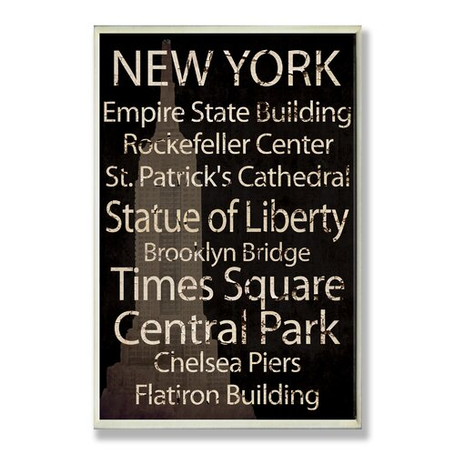 Home Décor New York Cities and Words Rectangle Textual Art Plaque