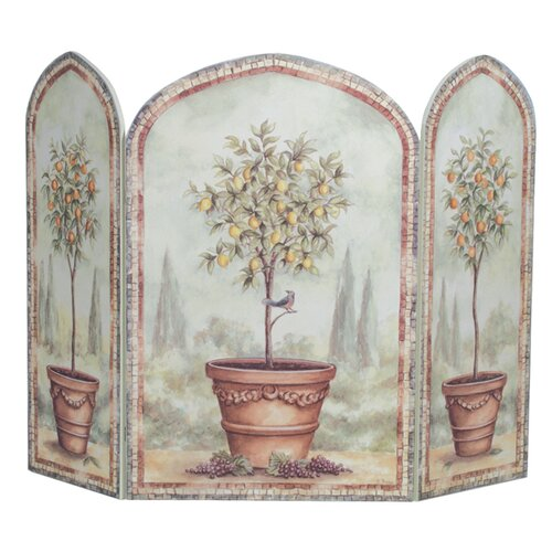 Stupell Industries Orange and Lemon Trees 3 Panel MDF Fireplace Screen
