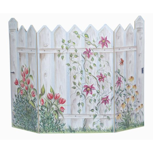 Picket Fence 3 Panel MDF Fireplace Screen