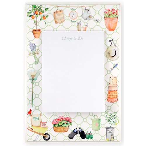 "Stupell Industries Decorative Garden Themed 1' 8"" x 1' 1"" White Board"