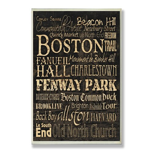 Stupell Industries Home Décor Boston Words and Cities Textual Art Plaque