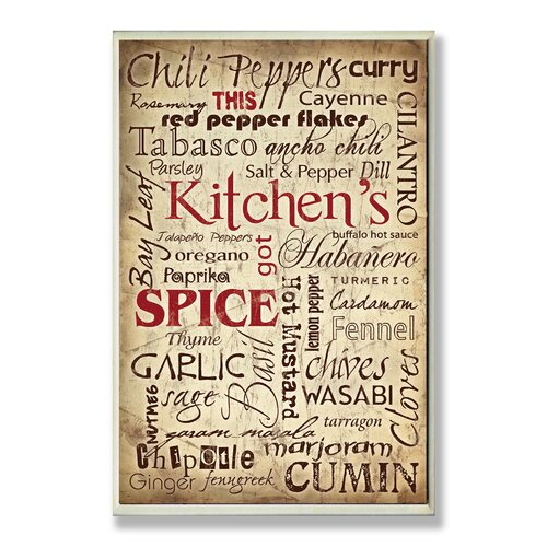 Stupell Industries Home Décor Kitchen and Spice Words Textual Art Plaque
