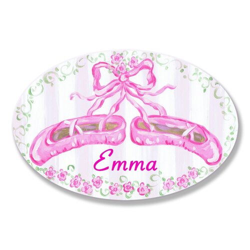 Kids Room Personalization Ballet Slippers Wall Plaque