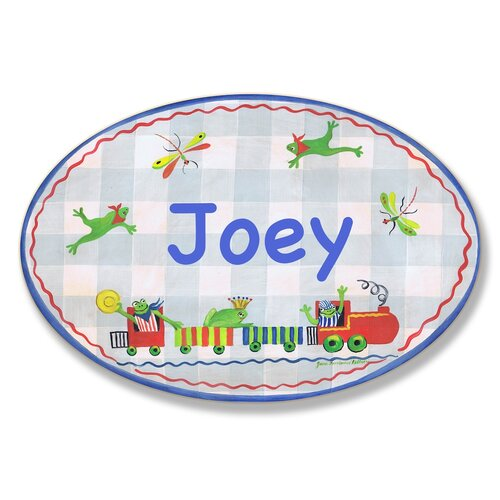 Kids Room Personalization Frogs/Dragonflies Wall Plaque