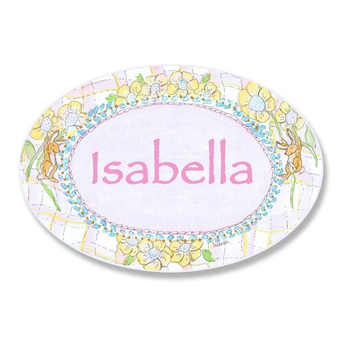 Kids Room Personalization Rabbit Wall Plaque