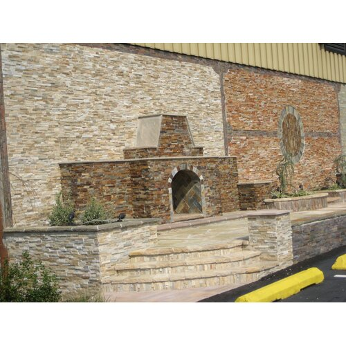 "Cabot Quartzite 6"" x 6"" x 6"" Natural Ledge Stone Corner in Golden Honey"